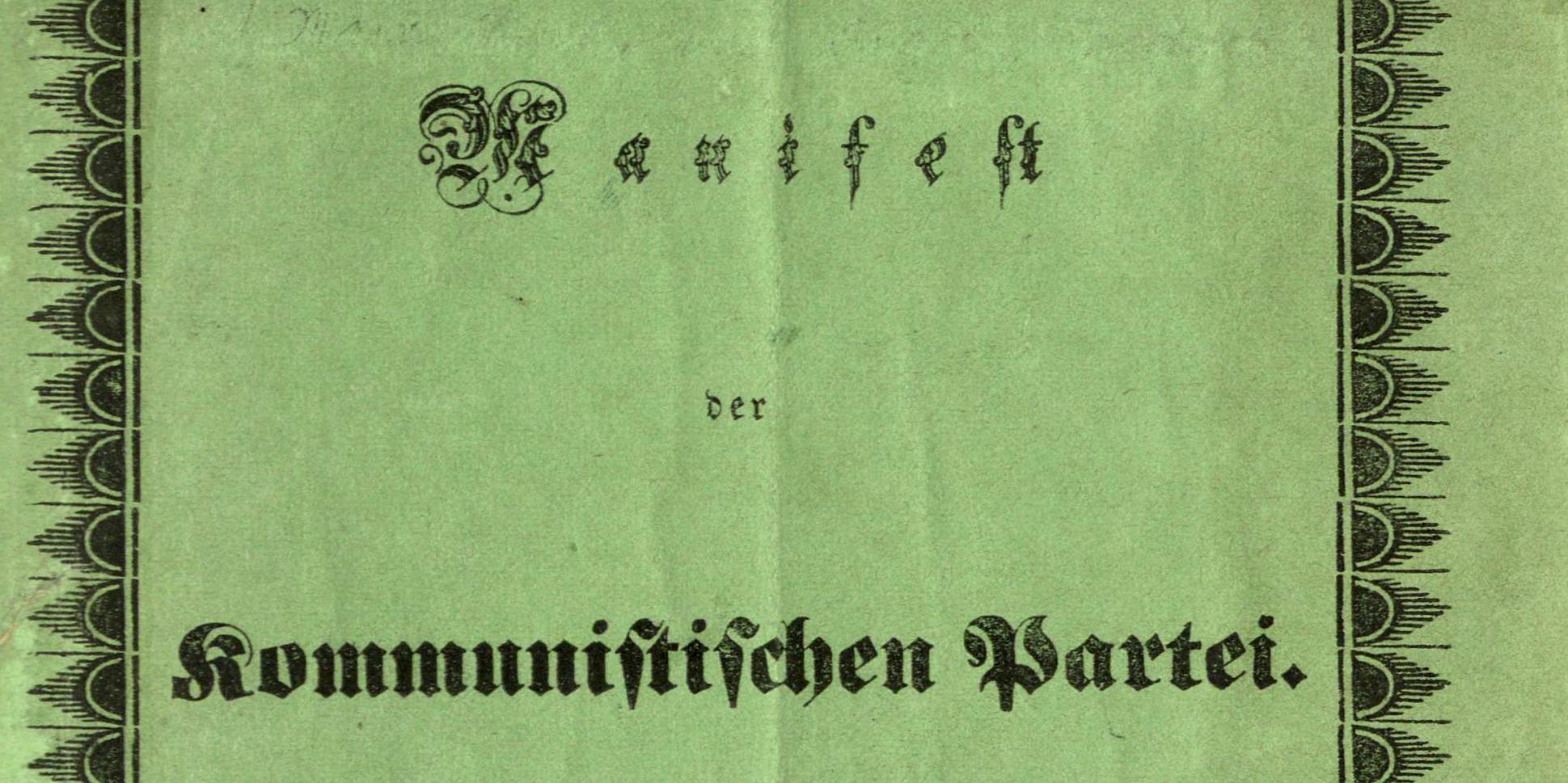 Umschlag Manifest der Kommunistischen Partei