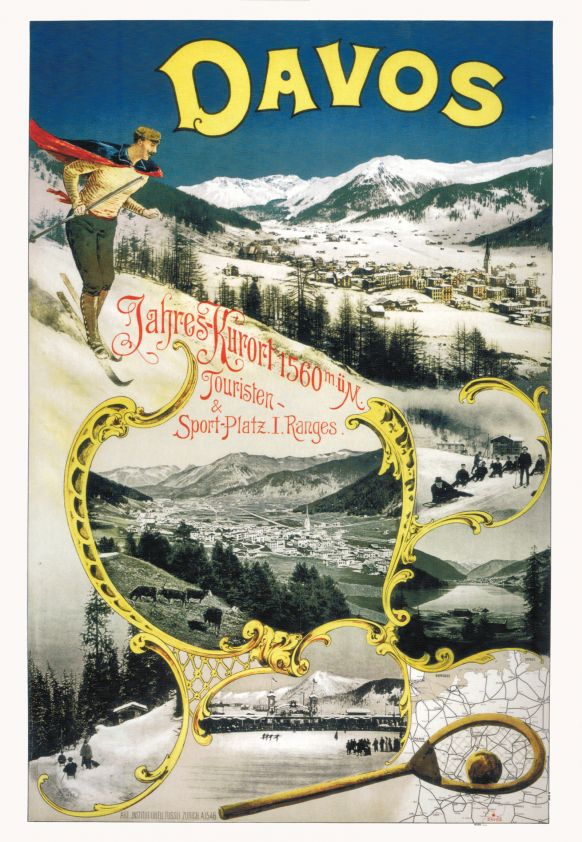 Werbeplakat Davos.