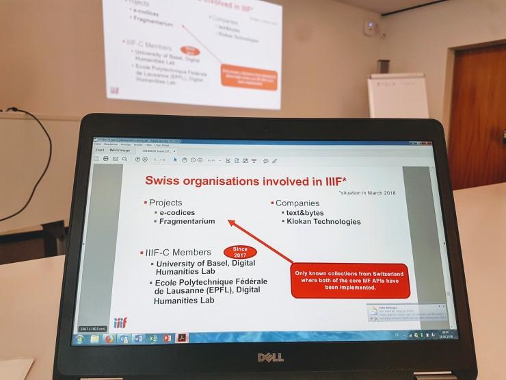 Swiss organisations involved in IIIF