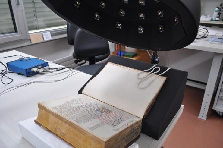 Seite mit Buchmalerei aus Bc II 5.