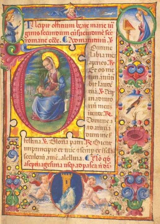 Stundenbuch, Pergament, Italien, 3. Viertel 15. Jahrhundert.